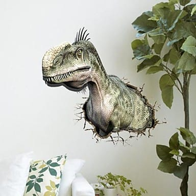 Dinosaur Wall Stickers Wall Art Kids - 3d dinosaur wall decals