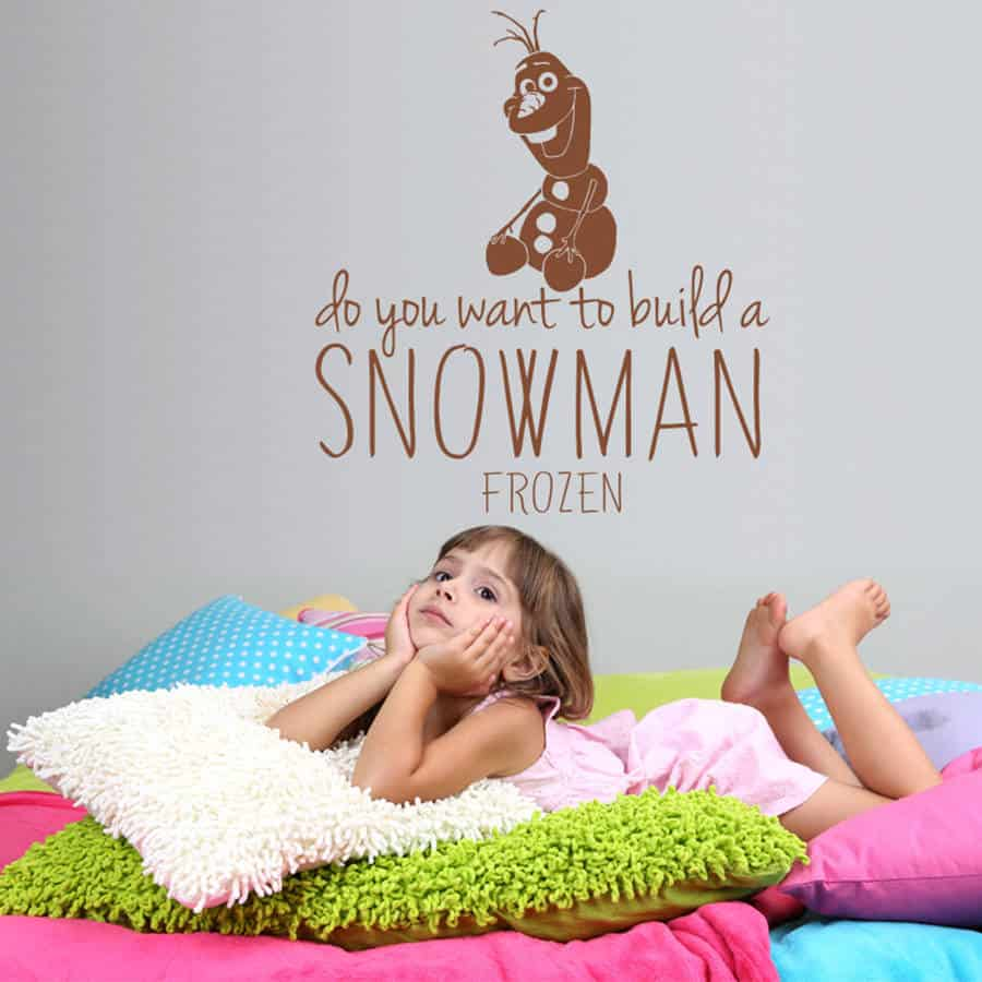 Frozen wall stickers wall art kids frozen wall sticker olaf amipublicfo Gallery
