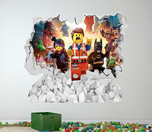 Gentil Lego Wall Sticker Cracked