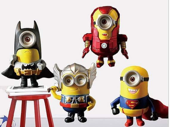 Minions avengers wall sticker