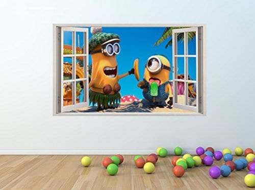 Minons banana window wall sticker