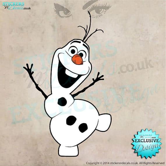 Olaf wall sticker frozen
