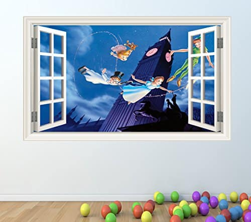 Peter pan open wall sticker