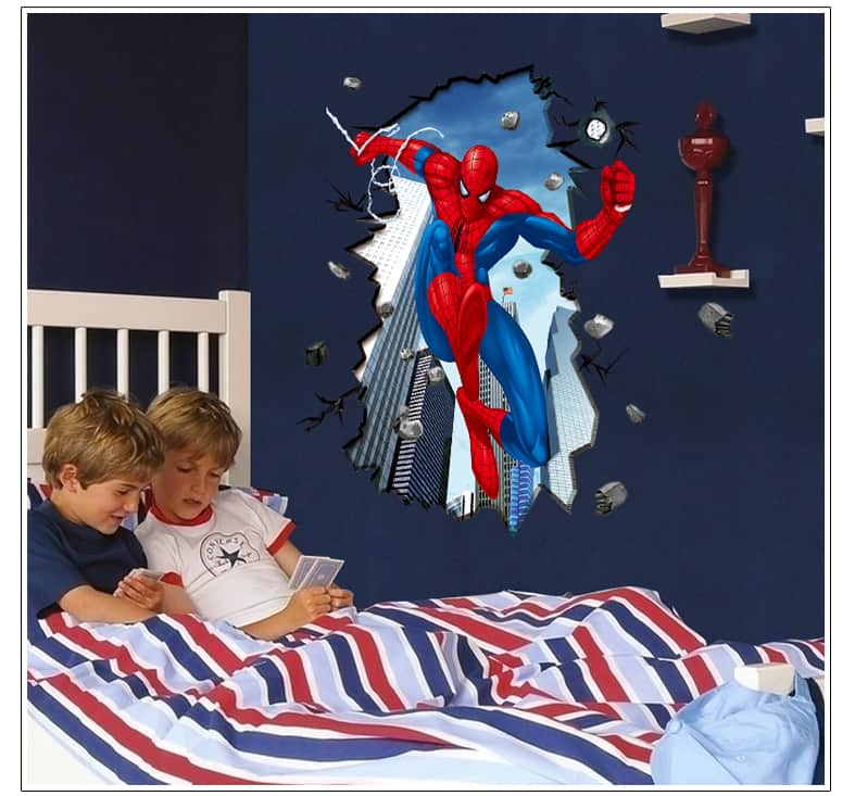 Spiderman wall sticker kids