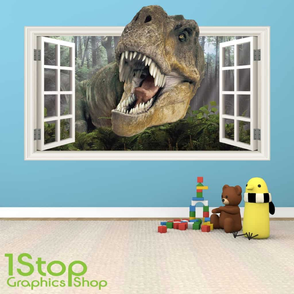 dinosaur wall stickers wall art kids dinosaure mur autocollant stickers muraux pleine couleur 3d