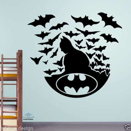 batman wall stickers wall art kids batman in action wall sticker wall stickers home