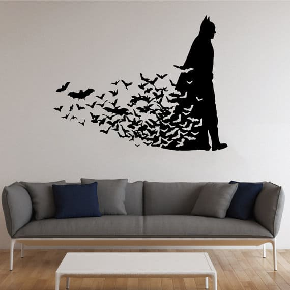 batman wall stickers wall art kids batman wallsticker batman navnesticker sej wallsticker med