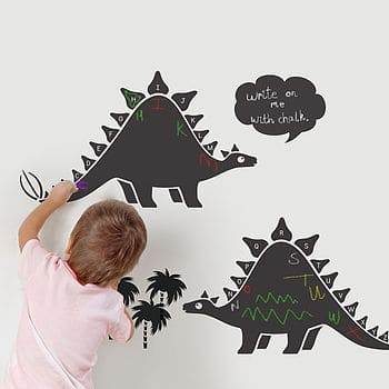 chalkboard dinosaur wall stickers