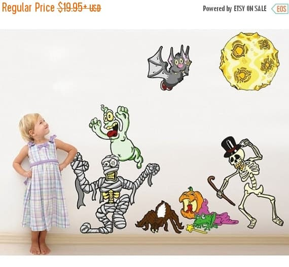 cute halloween wall stickers