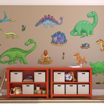 dinosaur wall sticker selection