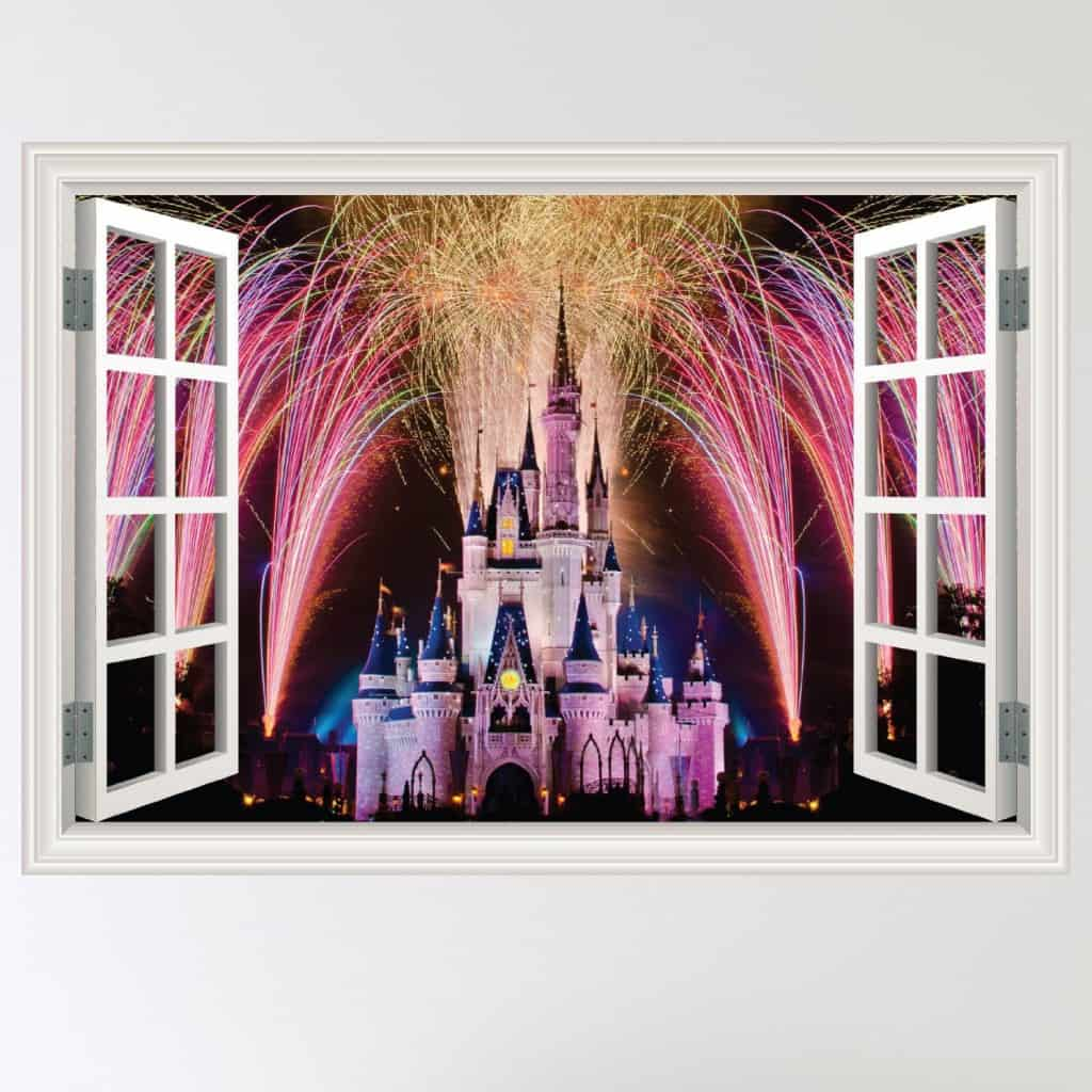 Disney wall stickers wall art kids for Castle wall mural sticker