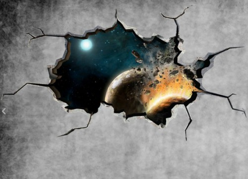Space Cracked Wall Sticker