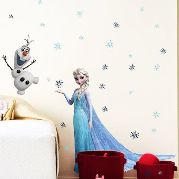 Elsa and snowman frozen wall sticker