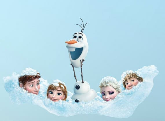 olaf and friends frozen wall sticker