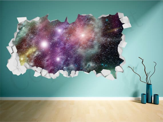 galaxy wall sticker