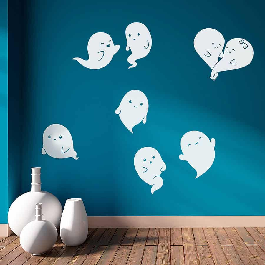 ghosts cute wall sticker
