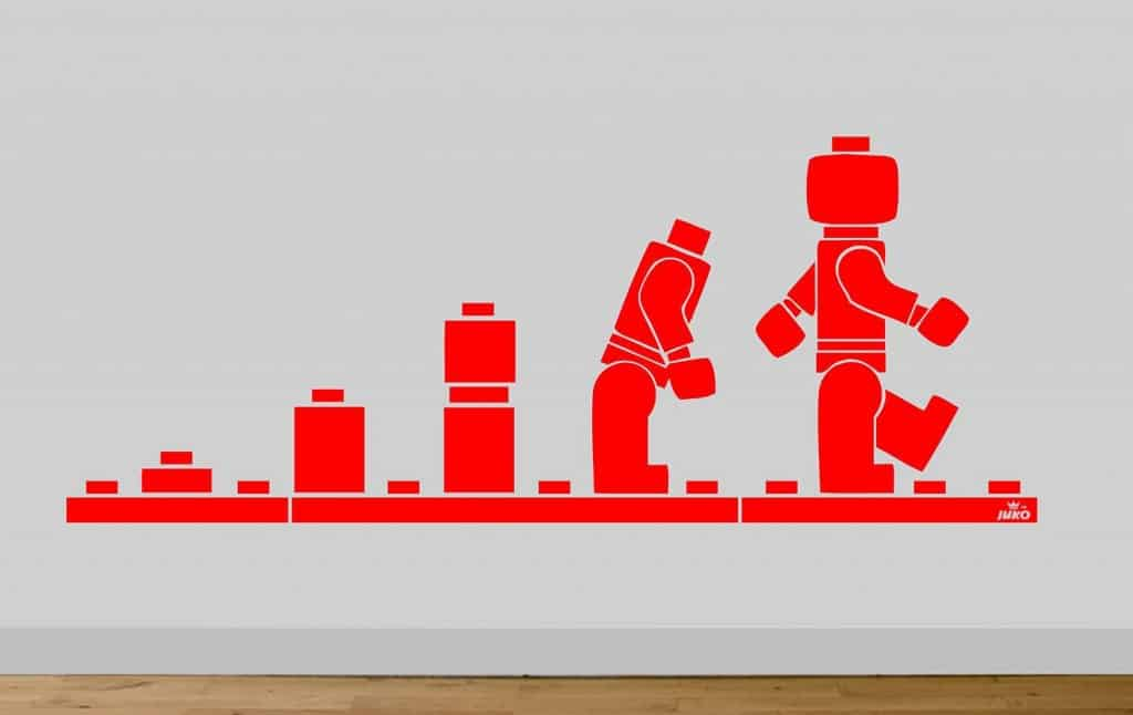 lego evolution of man wall sticker