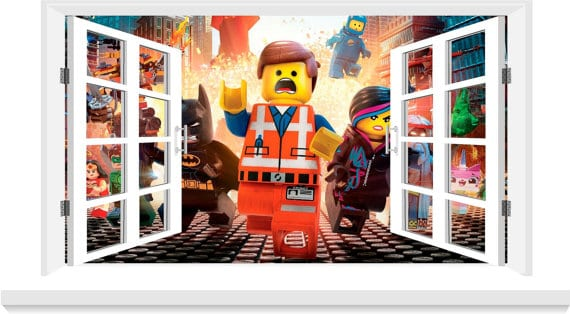 Window Effect Lego Movie Wall Sticker