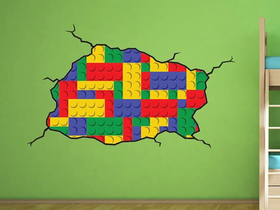 lego wall sticker