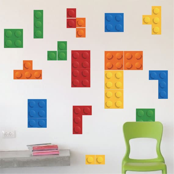 Lego Tetris Wall Sticker