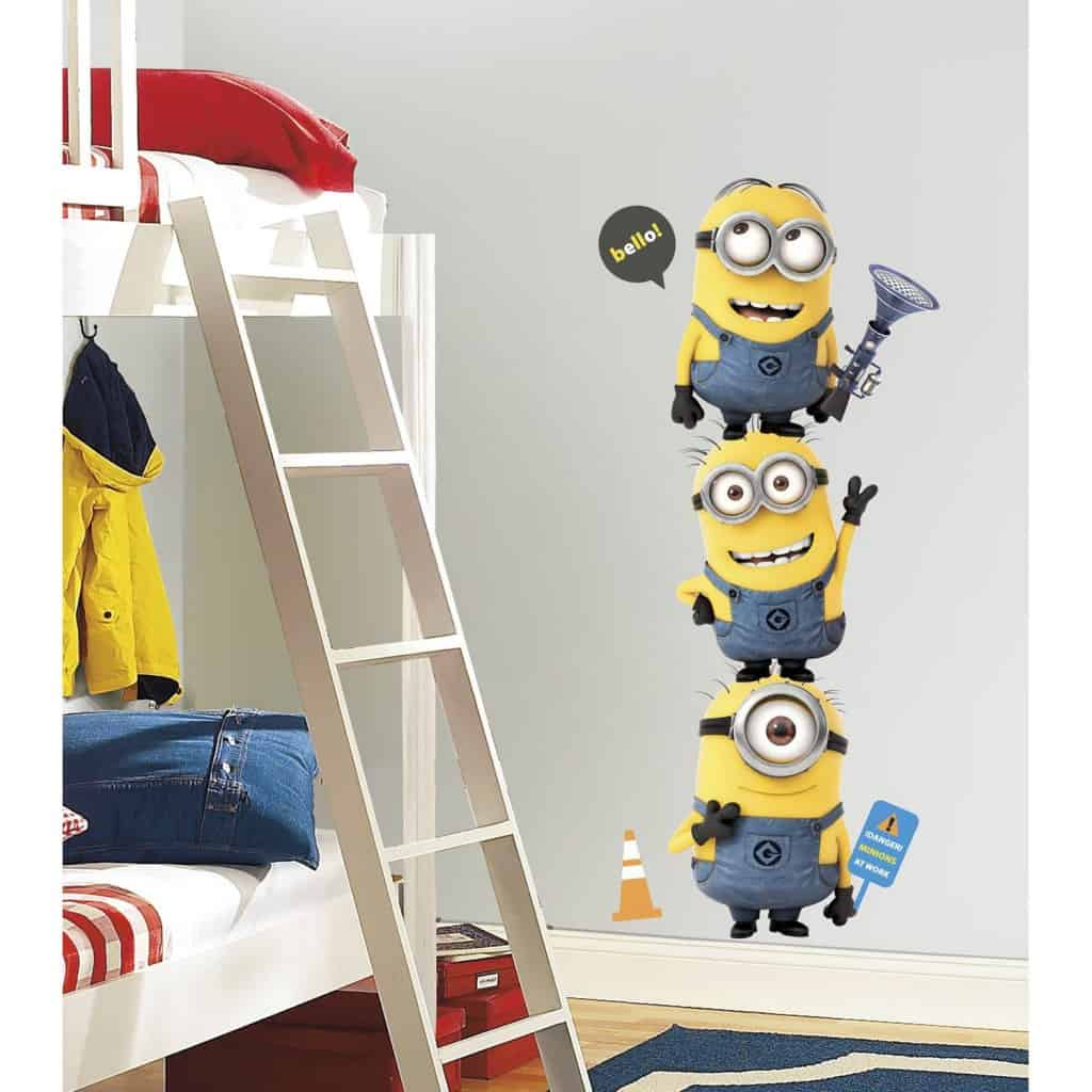minions wall sticker tower