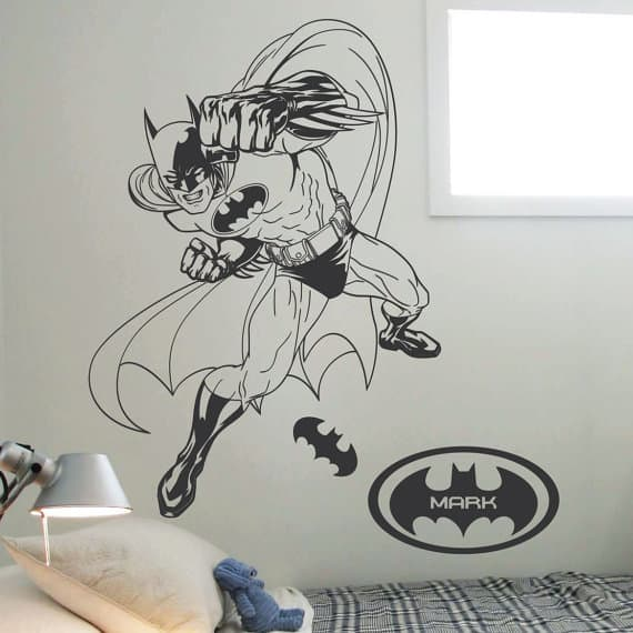 batman name wall sticker