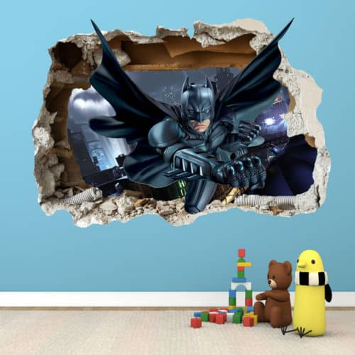 smash wall batman wall sticker