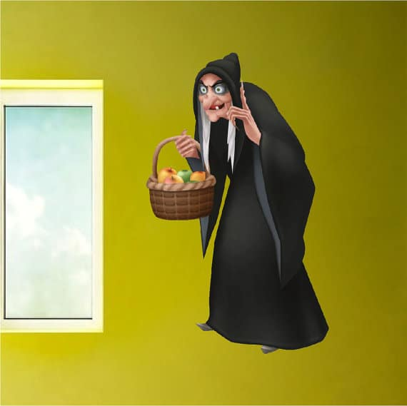 snow white witch wall sticker