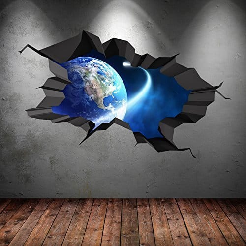 Space Earth 3d Wall Sticker