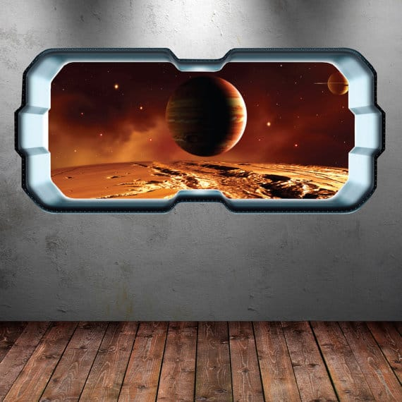 space planet window sticker
