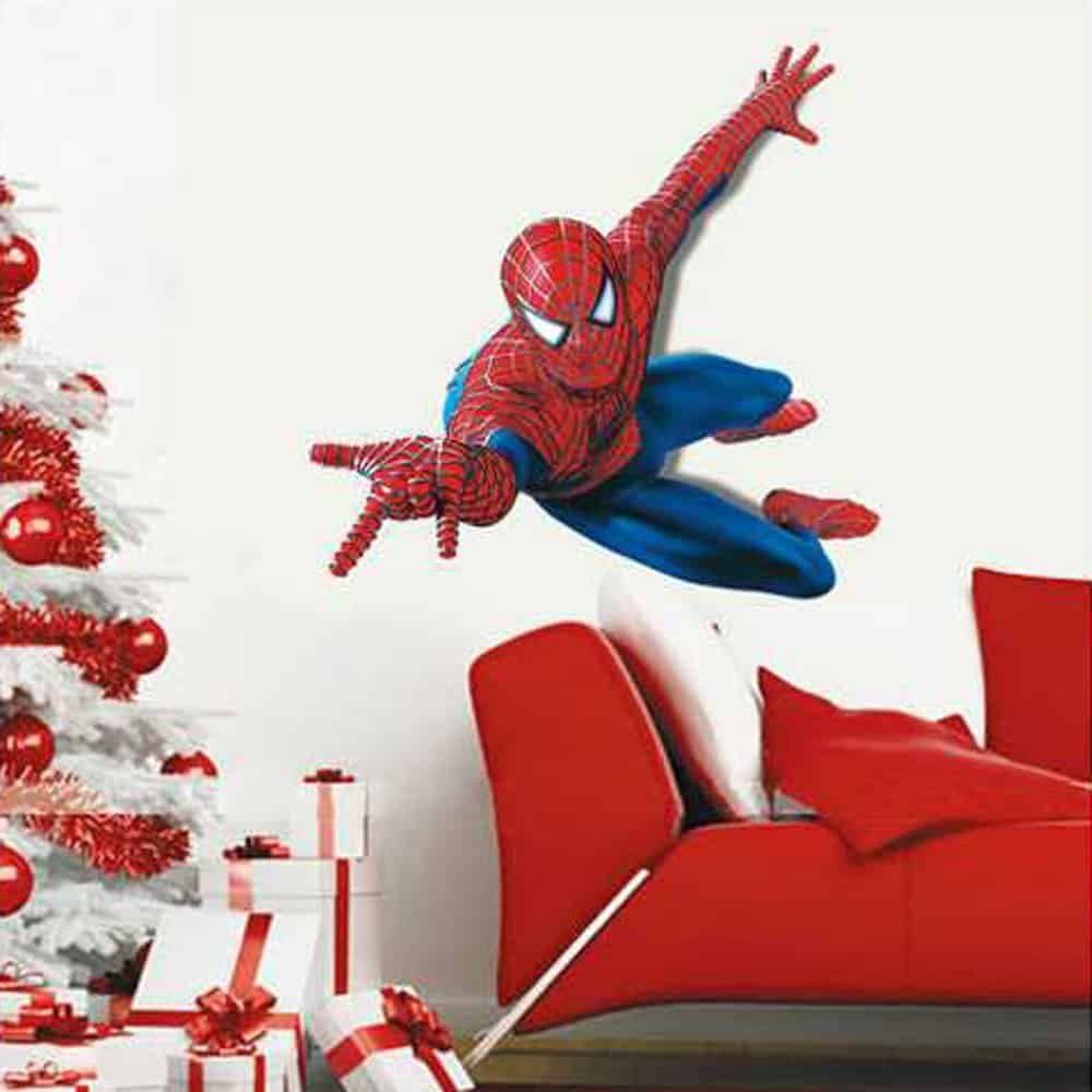 spiderman wall stickers wall art kids huge spiderman wall sticker