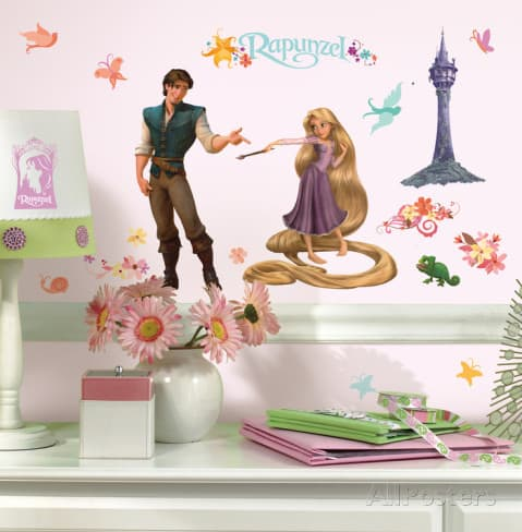 tangled wall sticker