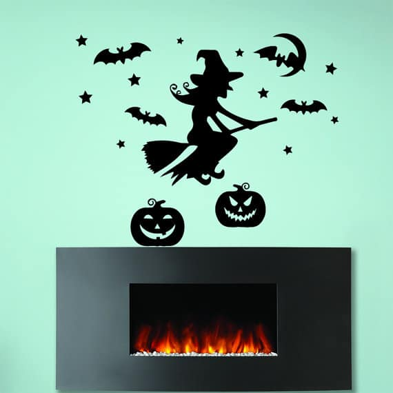witch broom decal
