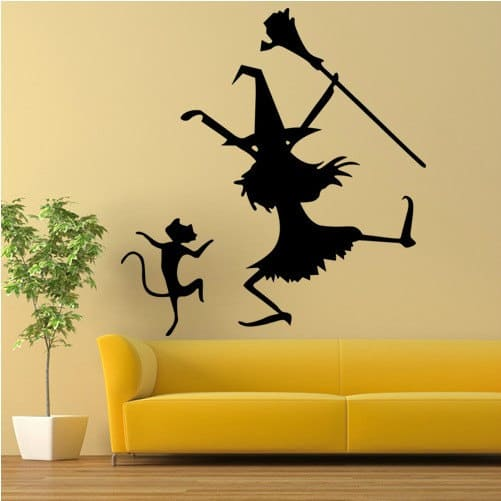 witch wall sticker