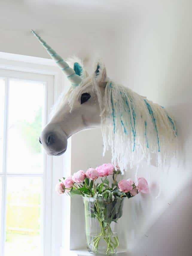 Fauxidermy Unicorn Head For Unicorn Themed Bedroom!