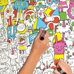 colouring in wall paper