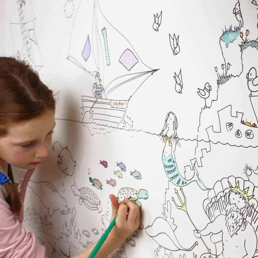 colouring in wallpaper