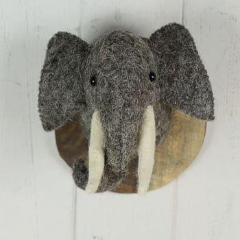 Fauxidermy Elephant Head For Kids Room!