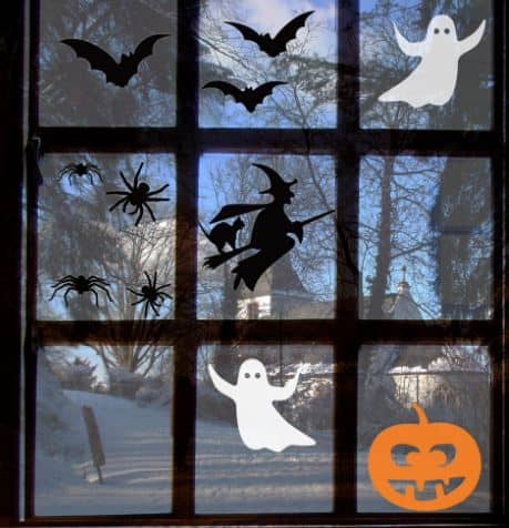 halloween window stickers
