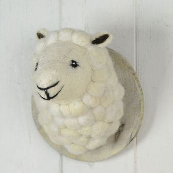 Fauxidermy Sheeps Head For Kids Room!