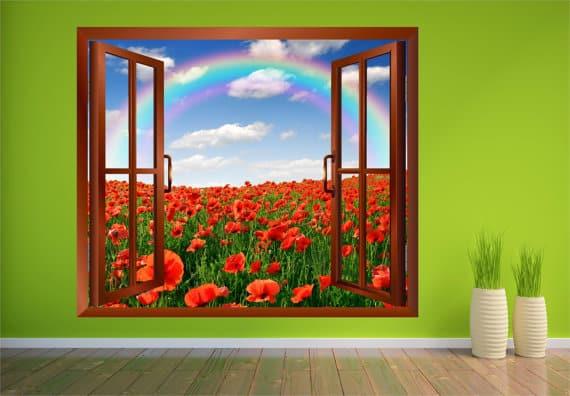 open window rainbow