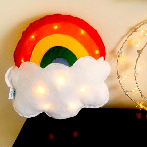 rainbow cushion light
