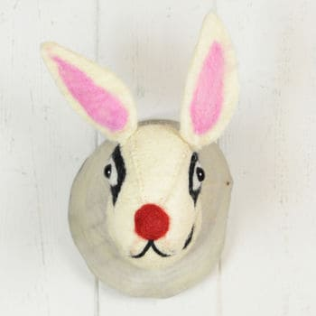 Fauxidermy Spotty Dog Head For Kids Room!