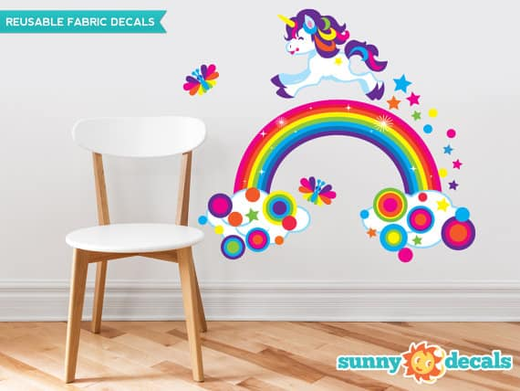 unicorn rainbow wall sticker