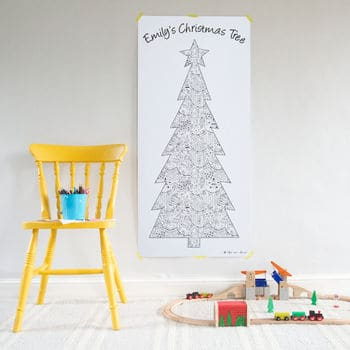 Colour in Christmas Tree Poster