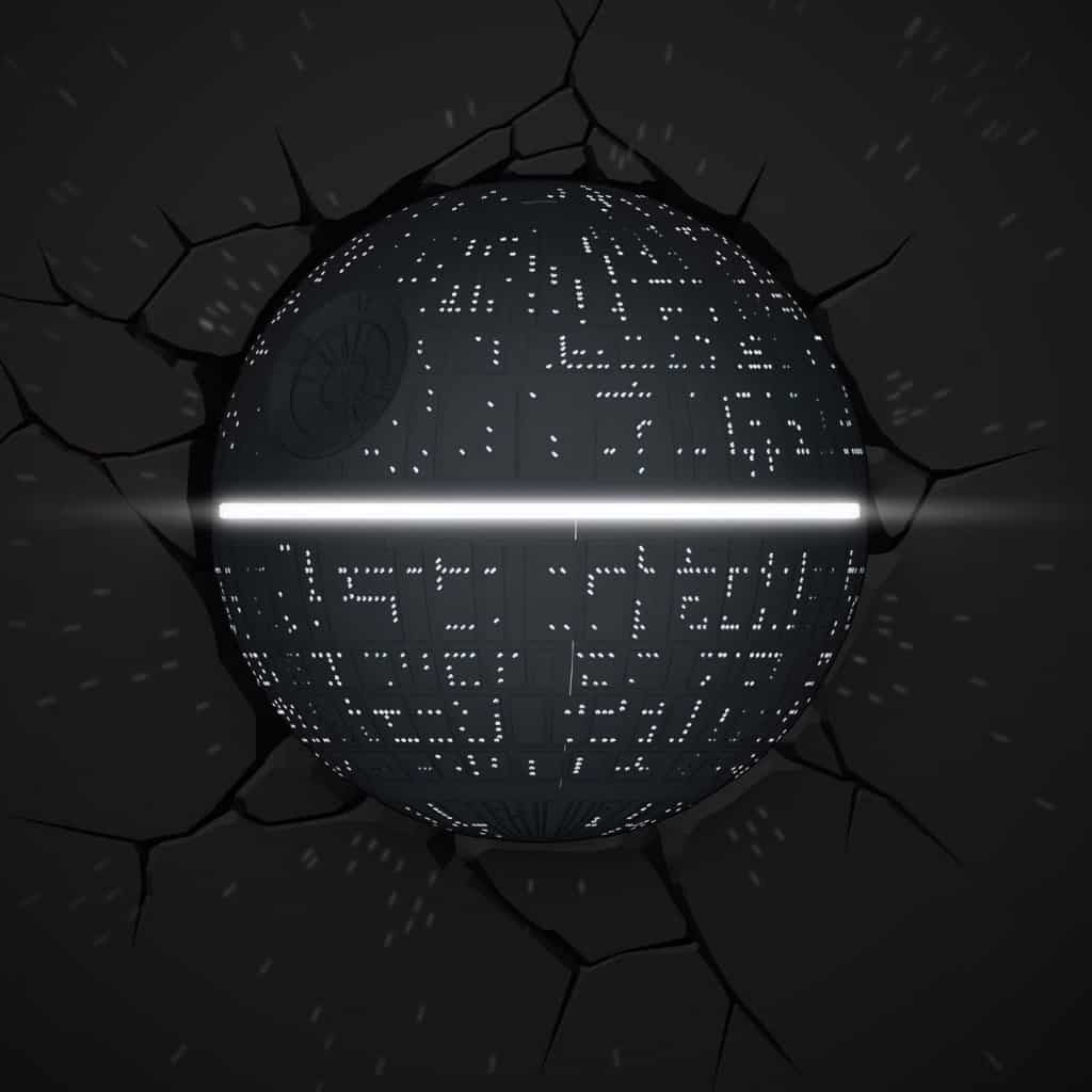 Death Star 3d wall light