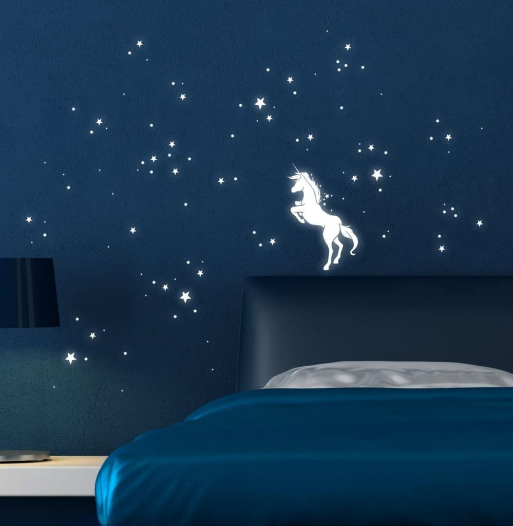 Unicorn with luminous stars