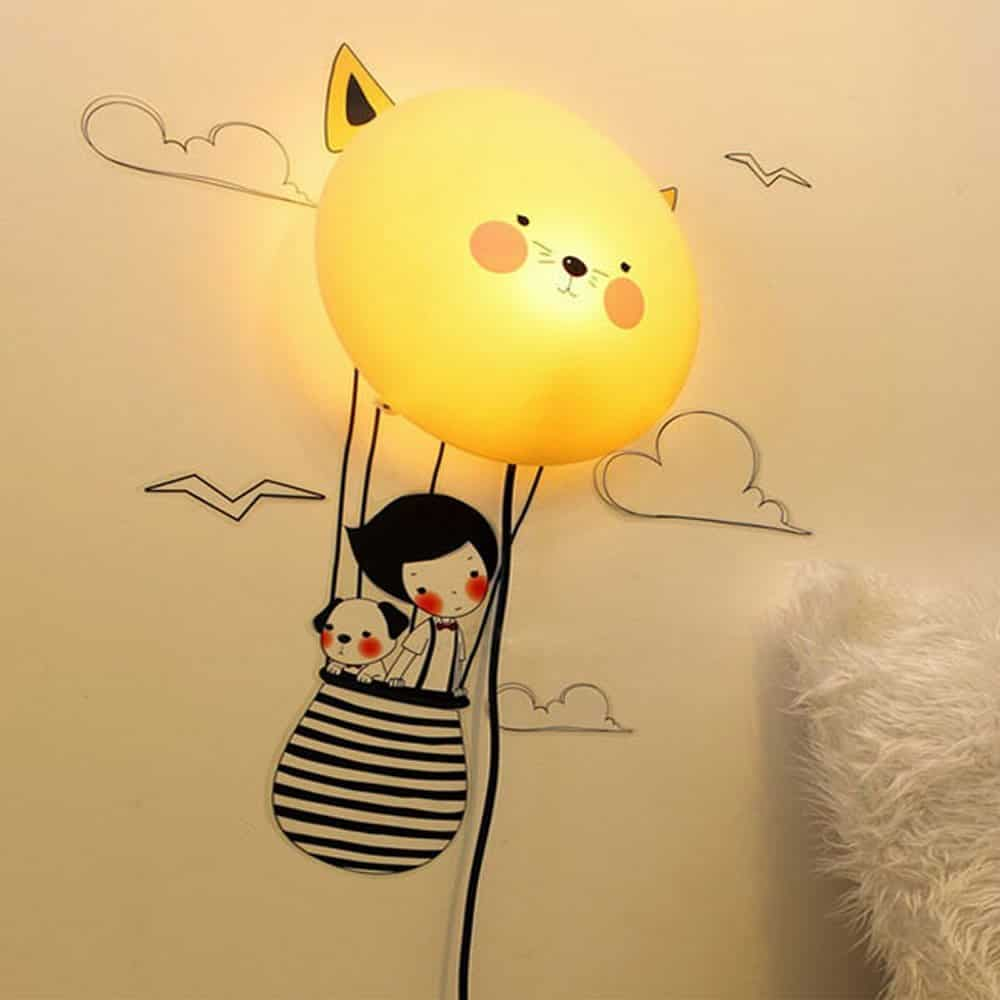 3D balloon wall light for kids!
