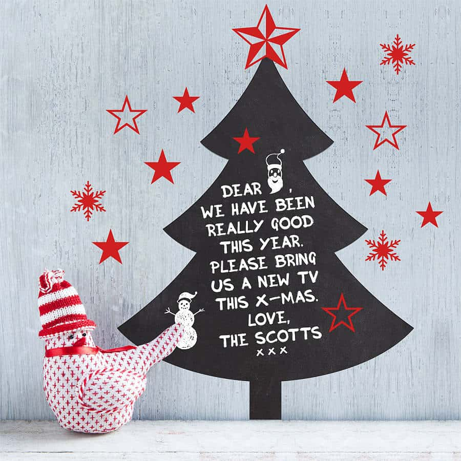 chalkboard christmas wall sticker
