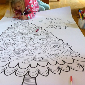 Colouring Page Christmas Tree Fun!